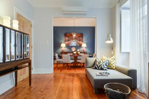 Sala de estar: Salas de estar modernas por LAVRADIO DESIGN