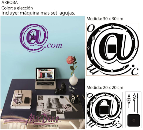 ARROBA: Oficinas y locales comerciales de estilo  por MikDeko