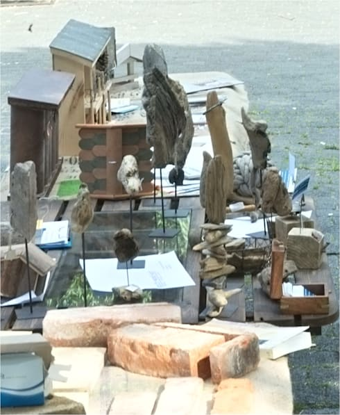 Antik-Steine zu Riemchen verarbeitet -  Upcyclingbörse Hannover 2015: ausgefallene Häuser von Bauteilbörse Hannover