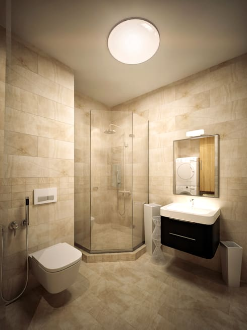 minimalistic Bathroom by Михаил Новинский (MNdesign)
