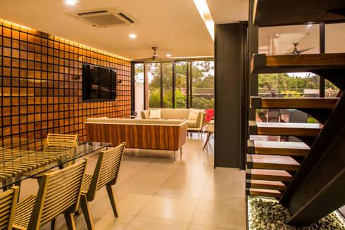 OM: Salas de estilo moderno por FGO Arquitectura