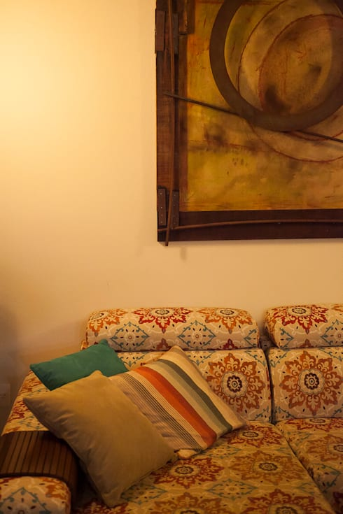Casa aconchegante: Salas de estar rústicas por Barbara Fantelli arquitetura e interiores