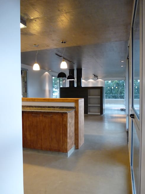 Vivienda Unifamiliar en Raco.: Comedores de estilo moderno por ee.arquitectos