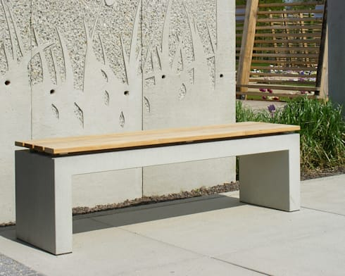 betonbank betontisch von oggi beton homify. Black Bedroom Furniture Sets. Home Design Ideas