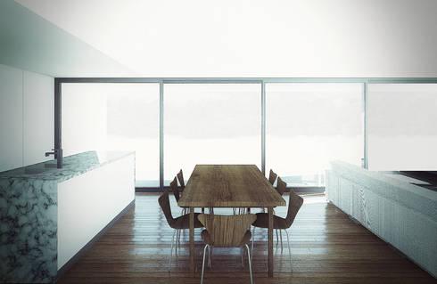 CASA SL : Casas de estilo moderno por NIA estudio