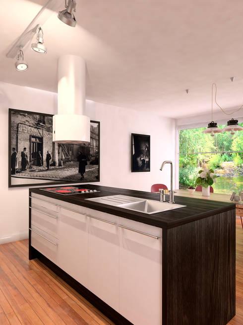 Même cuisine, autre vue: Cuisine de style  par Architecture du bain