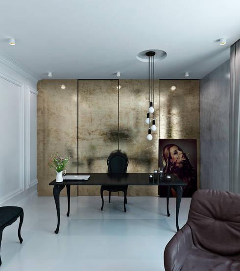 Home office 21.3: Рабочие кабинеты в . Автор – Студия Антона Сухарева 'SUKHAREVDESIGN'