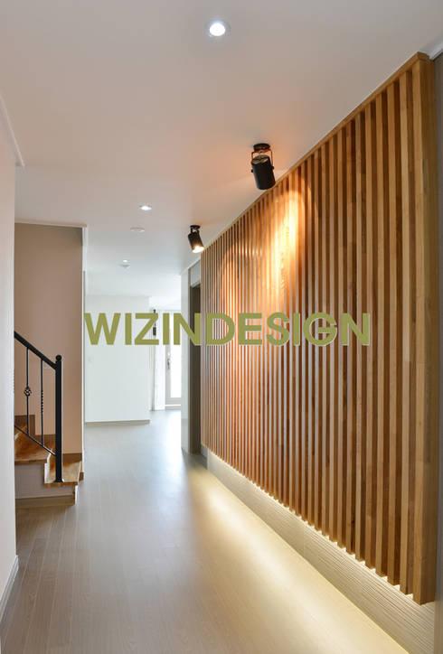 수원 광교 에일린의 뜰 48평 아파트: wizingallery의  벽