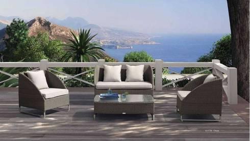 Muebles Exterior: Balcones y terrazas de estilo moderno por MUEBLES BEK