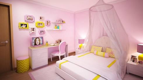 Quarto da Vitória: Quartos de criança modernos por Ângela Pinheiro Home Design