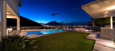JARDIN: Jardines de estilo moderno por Rousseau Arquitectos