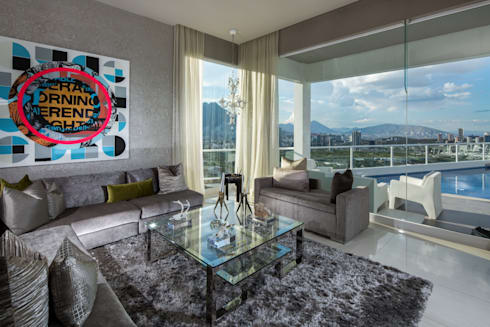 SALA: Salas de estilo moderno por Rousseau Arquitectos