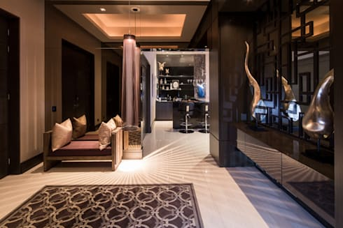 VESTIBULO: Pasillos y recibidores de estilo  por Rousseau Arquitectos