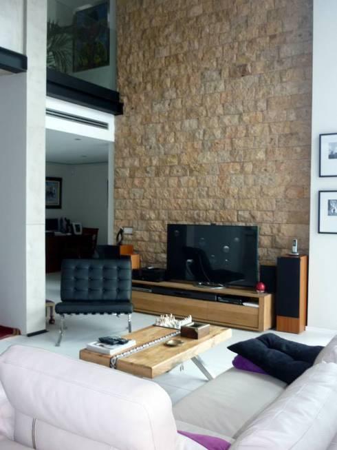 Salas de estar  por MIRTA CASTIGNANI ARQUITECTA
