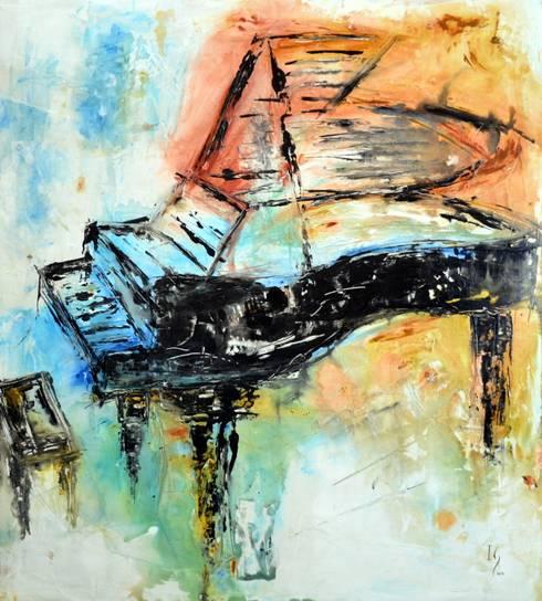 Obras de Música : Salas de estilo moderno por Galeria Ivan Guaderrama