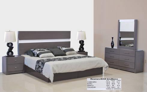 Marlam: Recámaras de estilo moderno por Muebles Marlam