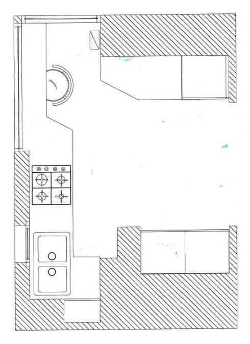 pianta di progetto: Cucina in stile  di My Home Attitude - Barbara Sala