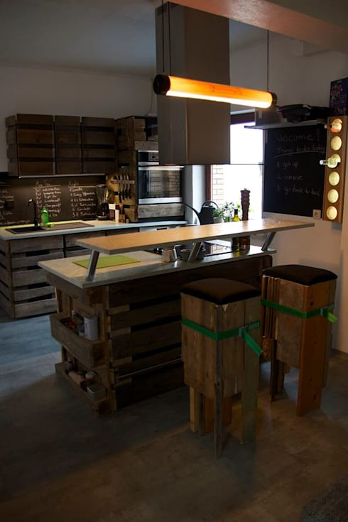 Cocinas de estilo  por WOODEN Germany