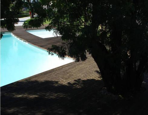 Condomínio S. Bernardo 110: Jardins modernos por Ceregeiro-Arquitectura Paisagista