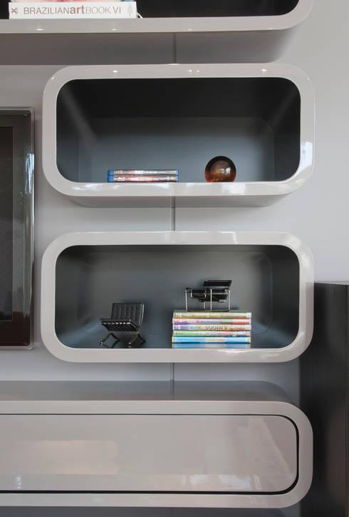 Casa Brooklin: Salas de jantar modernas por Figoli-Ravecca Arquitetos Associados