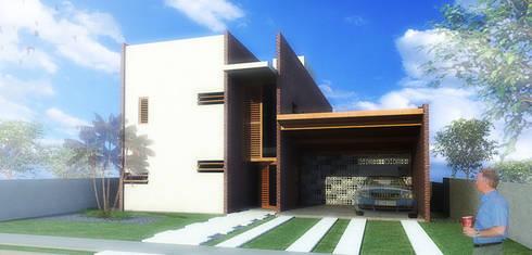 Casa Pátios: Casas minimalistas por Rede Arquitetos