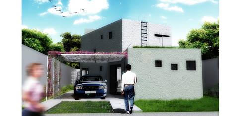 Casa S: Casas minimalistas por Rede Arquitetos