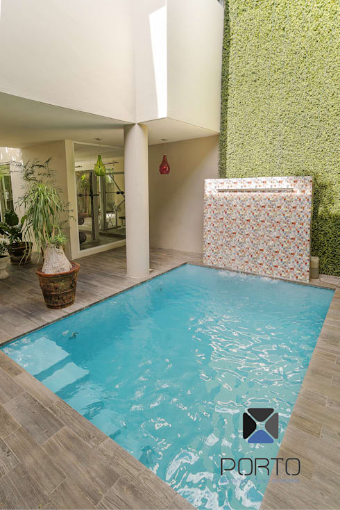 eclectic Pool by PORTO Arquitectura + Diseño de Interiores