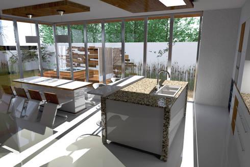 Extension Cuisine Sur Jardin Jardin Ultra Moderne Avec Du Gravier Dcoratif Galets Et Plantes