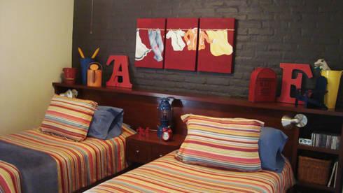 Cuarto Colorido Juvenil: Recámaras de estilo moderno por LM decoración