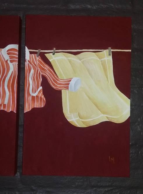 Cuadro tendedero 03: Arte de estilo  por LM decoración