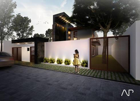 Casa Mayorazgos: Casas de estilo moderno por AP studioarq