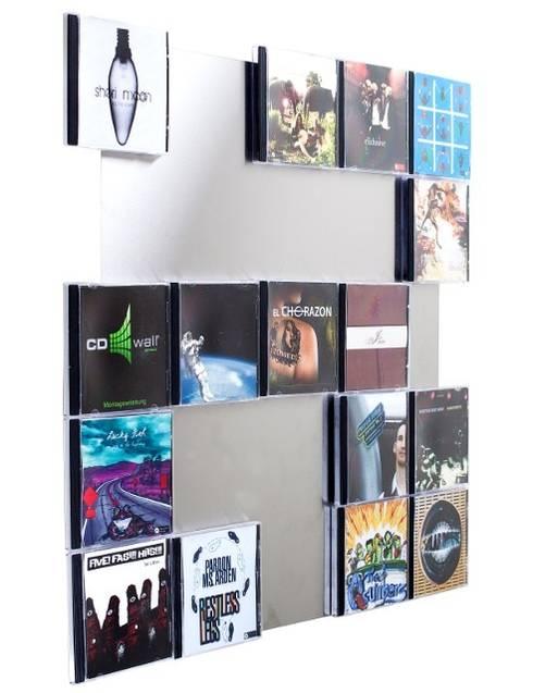 Cd Aufbewahrung superflache wandmontage für ihre lieblings cds ihre cds werden