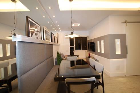 Sala de estar: Salas de jantar modernas por Pricila Dalzochio Arquitetura e Interiores