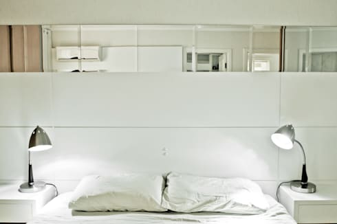 Apartamento K&R.R - Suíte Casal: Quartos  por Kali Arquitetura