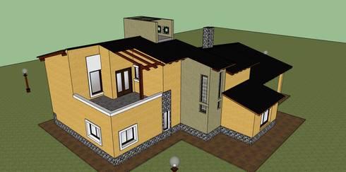 VIVIENDA FAMILIAR MARTINEZ :  de estilo  por LE PONT Estudio de Arquitectura e Ingenieria