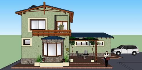 QUINCHO , VIVIENDA PEREIRA:  de estilo  por LE PONT Estudio de Arquitectura e Ingenieria