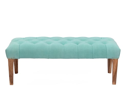 Natural Fibres Tufted Wooden Bench: modern Dining room by Natural Fibres Export