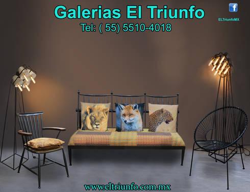 Galerías El Triunfo: Salas de estilo moderno por GALERIAS EL TRIUNFO SA DE CV