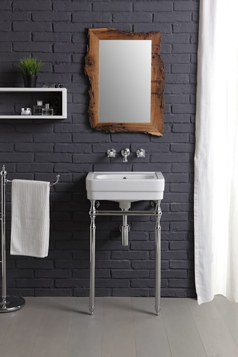 lavabo 50cm Provence'900 by BLEU PROVENCE: Bagno in stile in stile classico di bleu provence