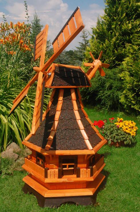 Windmühle mit Solarbeleuchtung, Windmill:  Garten von Deko Shop Hannusch
