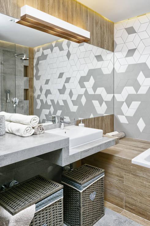 MIESZKANIE POKAZOWE NA OŁTASZYNIE: styl , w kategorii Łazienka zaprojektowany przez Partner Design