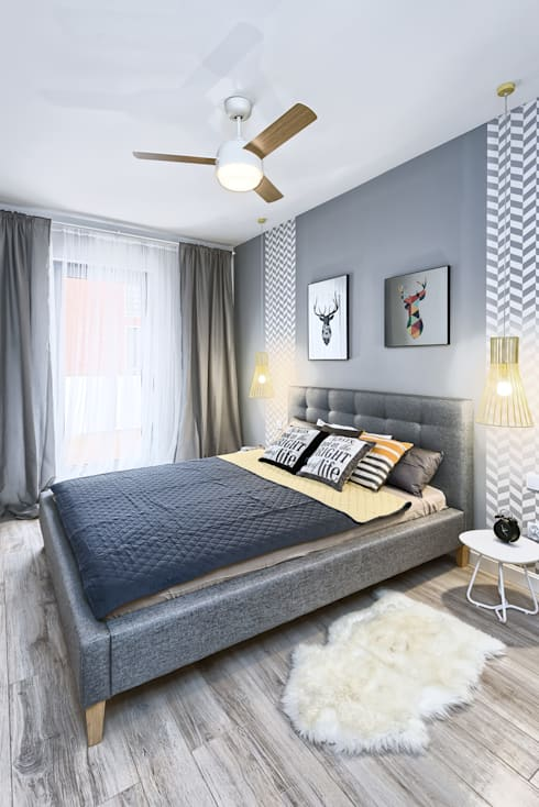 MIESZKANIE POKAZOWE NA OŁTASZYNIE: styl , w kategorii Sypialnia zaprojektowany przez Partner Design