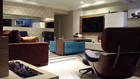 SALA DE ESTAR – BAIRRO JARDIM – SANTO ANDRÈ : Salas de estar modernas por Trends Casa Arquitetura e Design