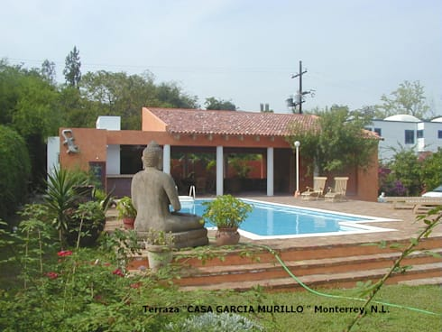 Terraza García Murillo: Casas de estilo moderno por Moya-Arquitectos