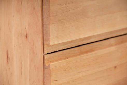 kommode birke mit griffmulden von schokowerkstatt die. Black Bedroom Furniture Sets. Home Design Ideas