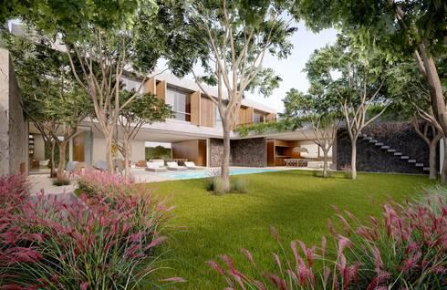 Casa H Jardim: Casas minimalistas por Mader Arquitetos Associados