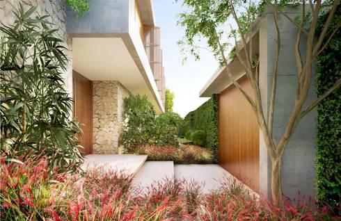 Casa H Acesso: Jardins minimalistas por Mader Arquitetos Associados
