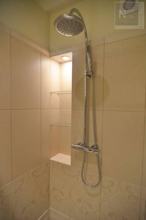 łazienka w beżach: styl , w kategorii Łazienka zaprojektowany przez Suare Studio  Natalia Margraf-Wojciechowska