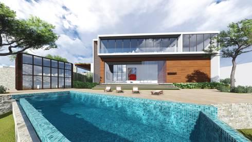 Residencia en Bosque Centinela: Casas de estilo moderno por unounoarquitectos