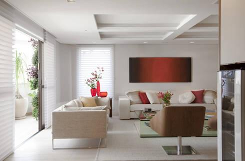 Apartamento Higienópolis: Salas de estar modernas por Marcelo Rosset Arquitetura